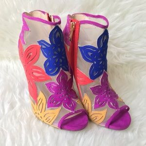 Jessica Simpson Bliths Mesh Floral Booties Size 6